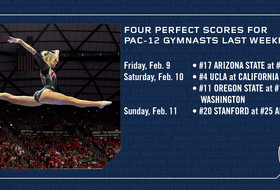 Four perfect scores for Pac-12 gymnasts last weekend