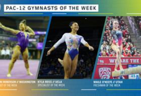 Washington's Roberson, UCLA's Ross and Utah's O'Keefe earn the Pac-12 gymnasts of the week awards