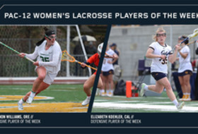 Pac-12 Announces Women's Lacrosse Weekly Honors