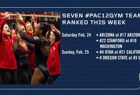 Seven #Pac12Gym teams ranked this week