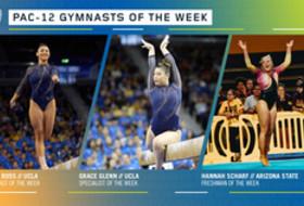 UCLA's Ross, Glenn and ASU's Scharf earn the Pac-12 gymnasts of the week awards
