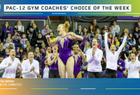 Washington's Hoffa earns the gymnastics  Coaches' Choice of the Week award