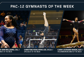 Williams, Peng-Peng Lee and Leonard-Baker Earn Pac-12 Gymnastics Weekly Awards