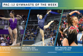 Washington's Roberson, UCLA's Ross and Utah's Paulson earn the Pac-12 gymnasts of the week awards