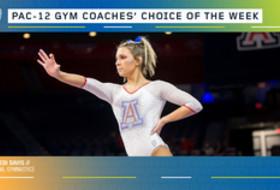 Arizona's Davis earns the gymnastics Coaches' Choice of the Week award