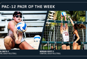 Stanford's Amelia Smith and Morgan Hentz duo name Pac-12 Pair of the Week