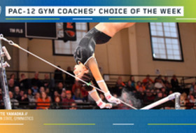 Oregon State's Yamaoka earns the gymnastics Coaches' Choice of the Week award