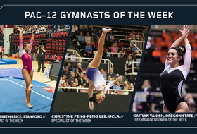 Stanford's Price, UCLA's Peng-Peng Lee and Oregon State's Yanish Capture Pac-12 Gymnastics Weekly Honors