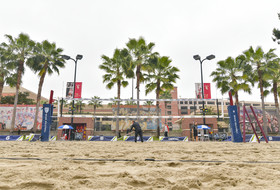 2019 Pac-12 Beach Volleyball Championship at Norman Merle Stadium on the campus of USC.