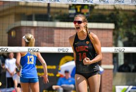 USC's Tina Graudina at 2019 Pac-12 Beach Volleyball Championship