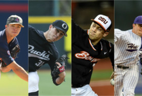 ARIZONA's Bobby Dalbec, OREGON's Stephen Nogosek, OREGON STATE's Max Engelbrekt and WASHINGTON's Troy Rallings.