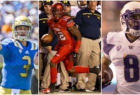Josh Rosen of UCLA, Justin Thomas of Utah and Dante Pettis of Washington receive the first Pac-12 Football weekly honors of 2015.