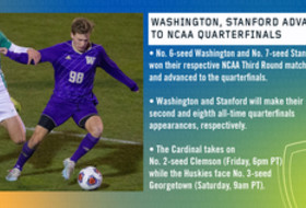Washington, Stanford advance to NCAA Men's Soccer Quarterfinals