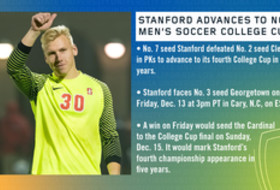 Stanford advances to NCAA Men's Soccer College Cup