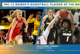 Pac-12 Women's Basketball Players of the Week: Cate Reese, Arizona (Player) and Jaylyn Sherrod, Colorado (Freshman)