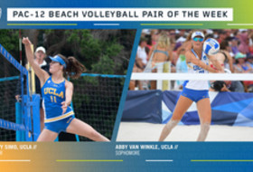 Pac-12 Beach Volleyball Pair of the Week for February 25, 2020 - UCLA's Savvy Simo and Abby Van Winkle