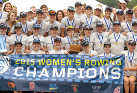 Cal women's rowing celebrates Pac-12 title
