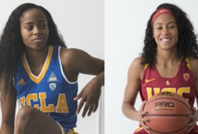 2016 Pac-12 Women's Basketball Media Day: High school teammates don't let USC-UCLA rivalry get in way of friendship