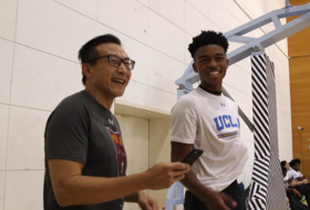 2017 Pac-12 China Game: UCLA's Jaylen Hands gets recognized by Alibaba's Joe Tsai