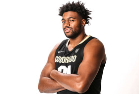 2018 Pac-12 Men's Basketball Media Day: Evan Battey battles back from a stroke to suit up for Colorado
