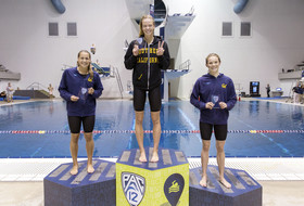 Stanford claims lead after day two of the Pac-12 Women's Swimming and Diving & Men's Diving Championships