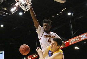 2016 Pac-12 Men's Basketball Tournament: USC's Chimezie Metu welcomes Bruins to the dunk party in Las Vegas
