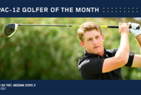 Arizona State's du Toit named Pac-12 Golfer of the Month