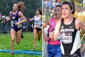 Washington cross country's Katie Knight and Colorado cross country's Ryan Forsyth