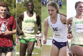 2016 Pac-12 cross country honorees Ratcliffe, Cheserek, Neale, Rainsberger