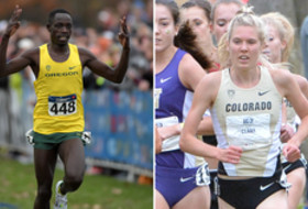 Oregon's Edward Cheserek and Colorado's Erin Clark