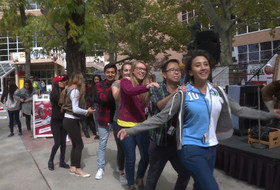 Utah students dance to polka music, play alphorn during homecoming week