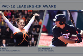Oregon State's Anderson, Ricci Named Pac-12 Leadership Award Winners