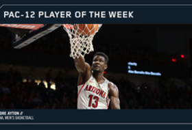 Pac-12 Men's Basketball Player of the Week Arizona's Deandre Ayton Dec. 4, 2017