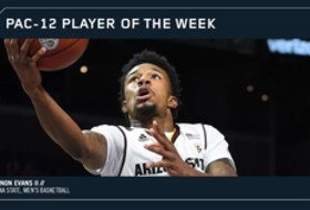 Pac-12 Men's Basketball Player of the Week Arizona State's Shannon Evans II Dec. 11, 2017