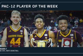 Arizona State's Tra Holder Pac-12 Men's Basketball Player of the Week Nov. 27, 2017
