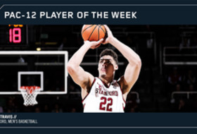 Pac-12 Men's Basketball Player of the Week Stanford's Reid Travis Feb. 26, 2018