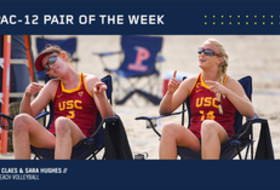 USC pair Kelly Claes and Sara Hughes voted Pac-12 pair of the week.