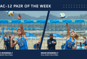 UCLA's McNamara twins named Pac-12 Beach Volleyball Pair of the Week