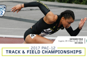 2017 Pac-12 Track & Field Championships graphic