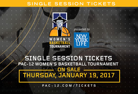 Single-session tickets to Pac-12 Women's Basketball Tournament on sale now