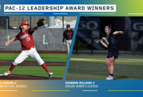 Washington State's Owen Leonard and Oregon's Shannon Williams named Pac-12 Leadership Award winners