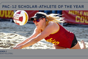 USC's Jo Kremer was voted Pac-12 Beach Volleyball Scholar-Athlete of the Year