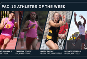 Pac-12 Track & Field Athletes of the Week March 27, 2018
