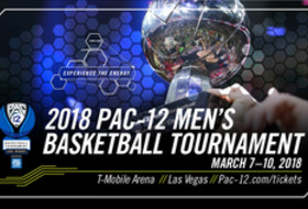 2018 Pac-12 Men's Basketball Tournament tickets graphic