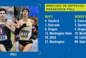 2018 Pac-12 Cross Country preseason poll graphic