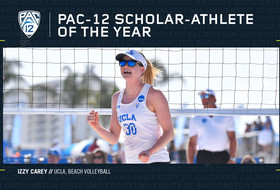 UCLA's Izzy Carey is voted 2019 Pac-12 Beach Volleyball Scholar-Athlete of the Year.