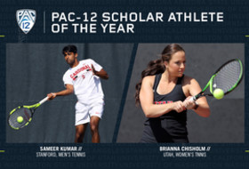 Stanford's Kumar, Utah's Chisholm named Pac-12 Tennis Scholar-Athletes of the Year