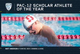 Stanford's Anderson Named Pac-12 Men's Swimming & Diving Scholar-Athlete of the Year