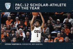 2018-19 Pac-12 Men's Basketball Scholar-Athlete of the Year - Stephen Thompson Jr., Oregon State