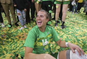 Clean sweep: Oregon's Sabrina Ionescu is unanimous Player of the Year after winning Wooden Award